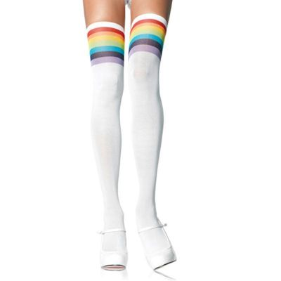 Over The Rainbow Opaque Thigh Highs