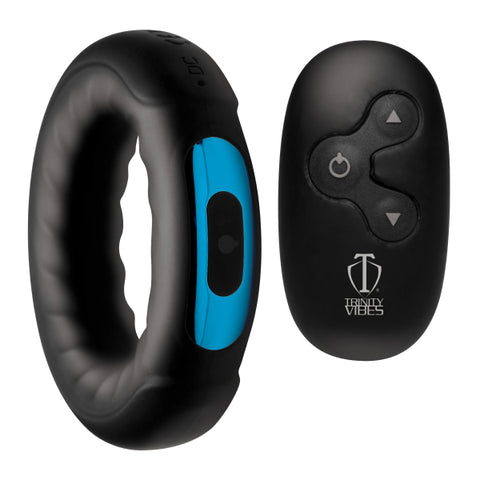 Remote Control Rechargeable Vibrating Ridged Silicone Cock Ring