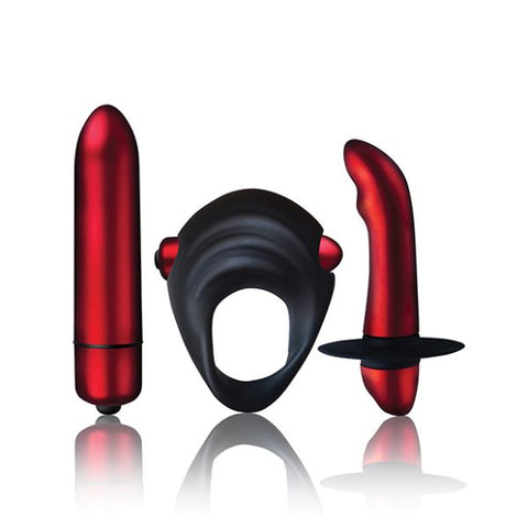 Rocks Off Truly Yours Red Temptation Couples Vibrating Kit