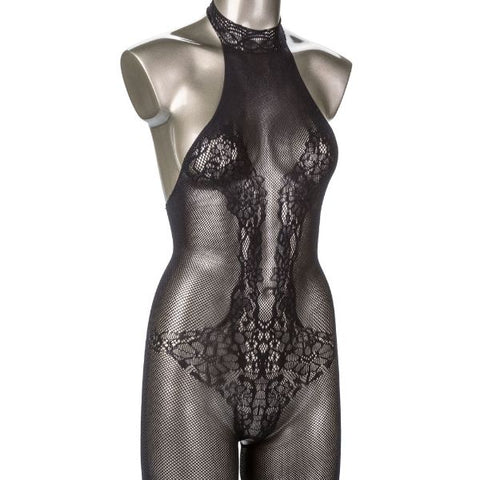Scandal Plus Size Halter Lace Body Suit