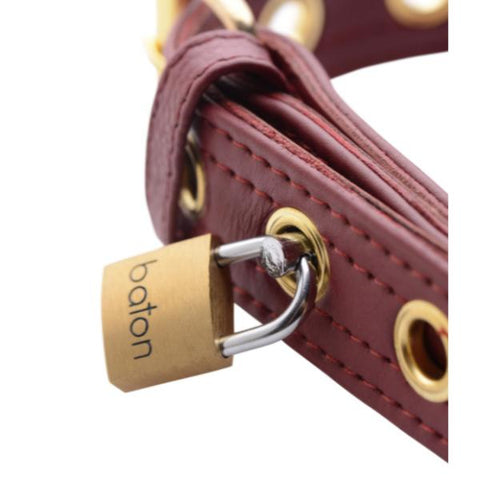 Strict Leather Luxury Locking Collar - Burgundy