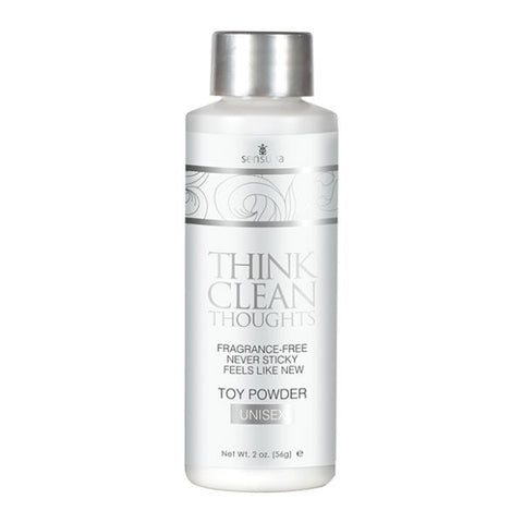 Sensuva Think Clean Thoughts Toy Powder - 2 Oz