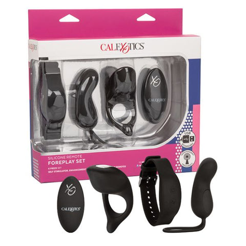 Silicone Remote Foreplay Couple's Cock Ring and Vibrator Set