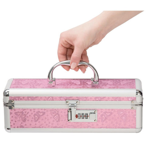 Lockable Toy Box - 12 Inches - Pink