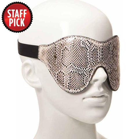 Spartacus Snakeskin Blindfold with Leather Lining