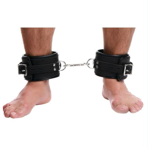 Strict Leather Ankle Cuffs - Padded Premium Locking Ankle Restraints