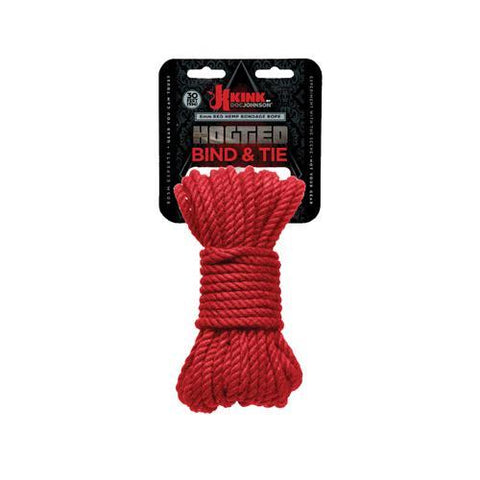 Kink by Doc Johnson Bind and Tie Rope - Red