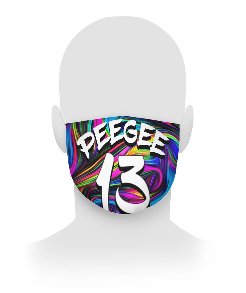 PeeGee13 Swirl Face Mask Cloth Face Mask