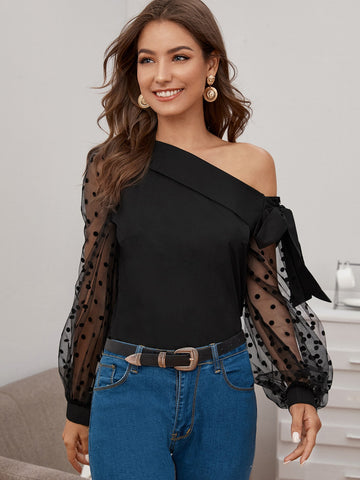 Womens One Shoulder Top