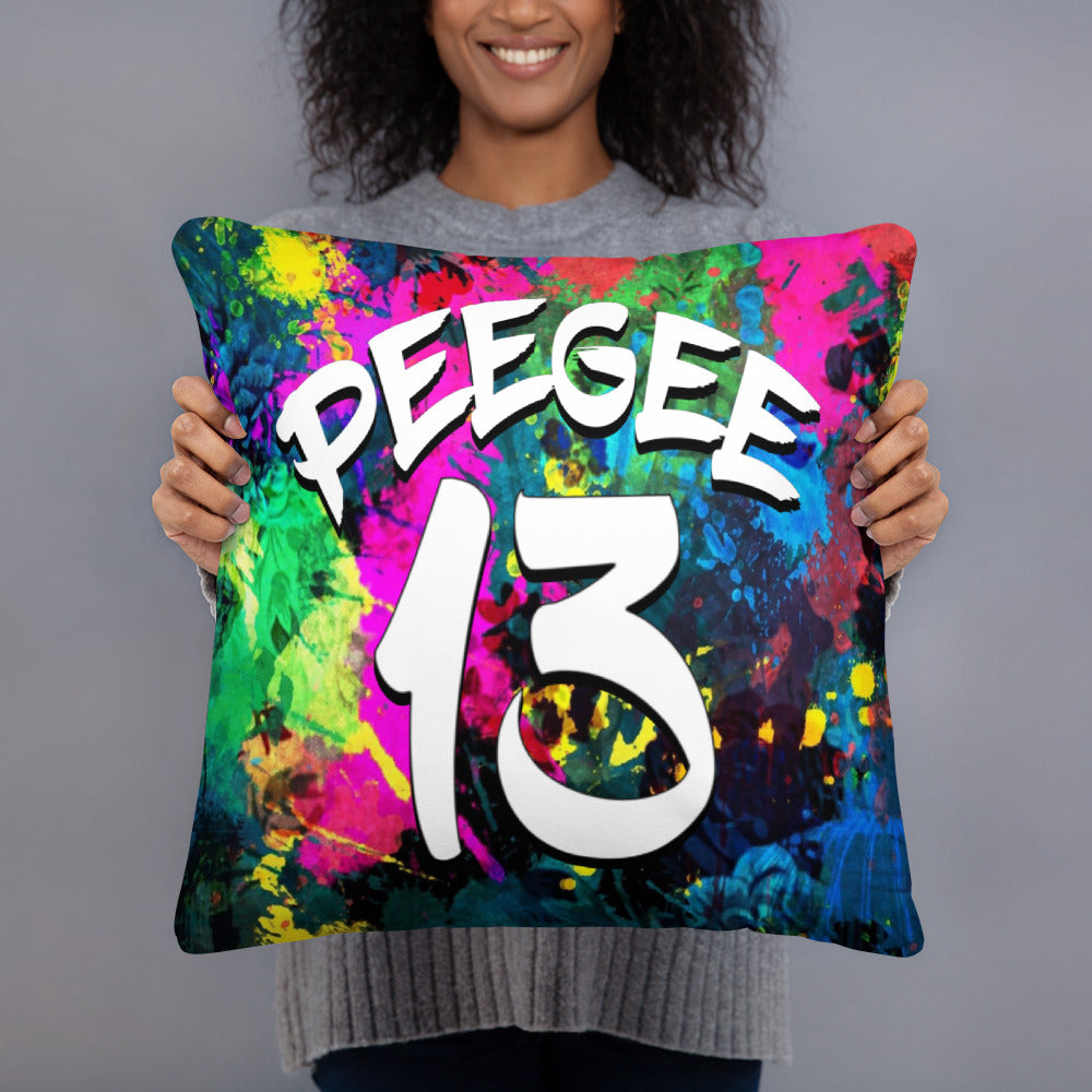 PeeGee13 Splash Drip Pillow