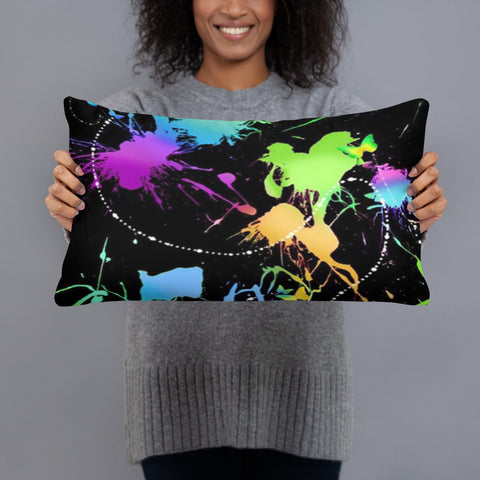 PeeGee13 Glow Splash Drip Pillow
