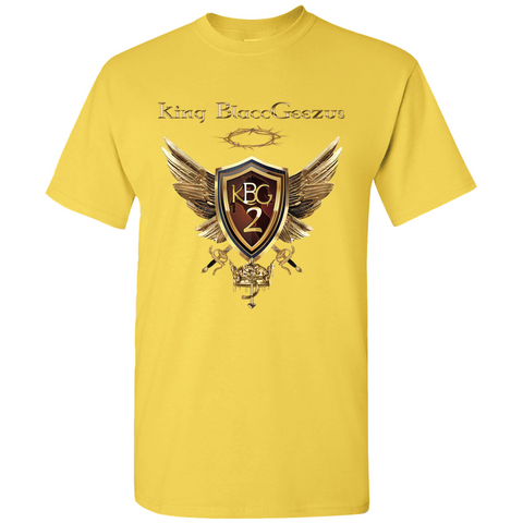 King BlaccGeezus Golden Wings Text T-Shirt #KBG