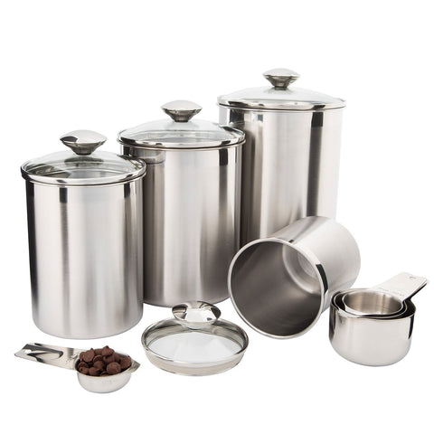 SilverOnyx Canister Set Stainless Steel