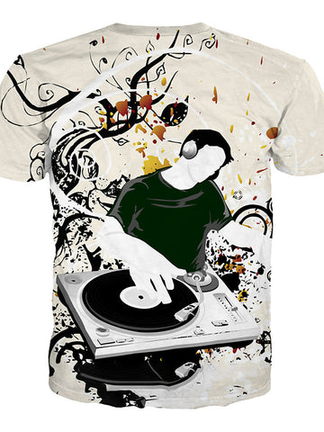Play The Music Mens Designer Ts