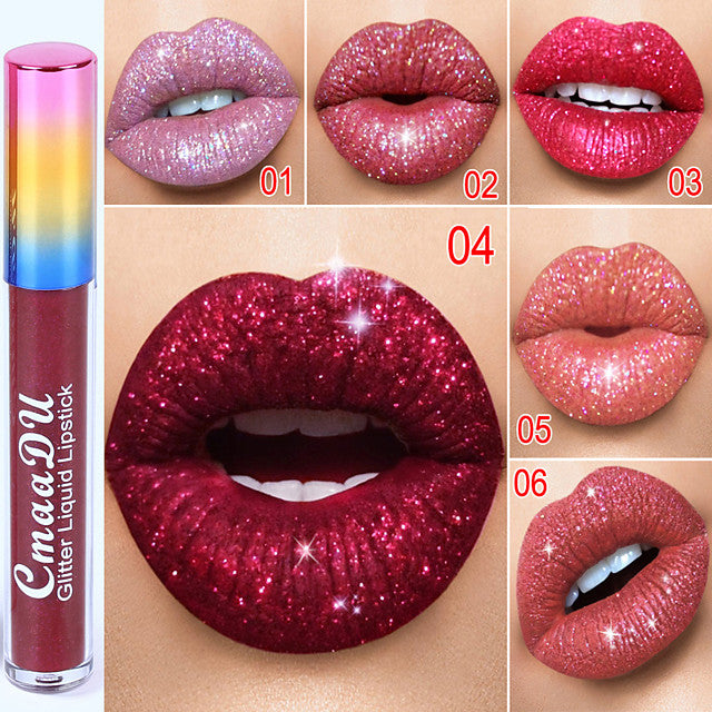 Color Glittered Lip Stick