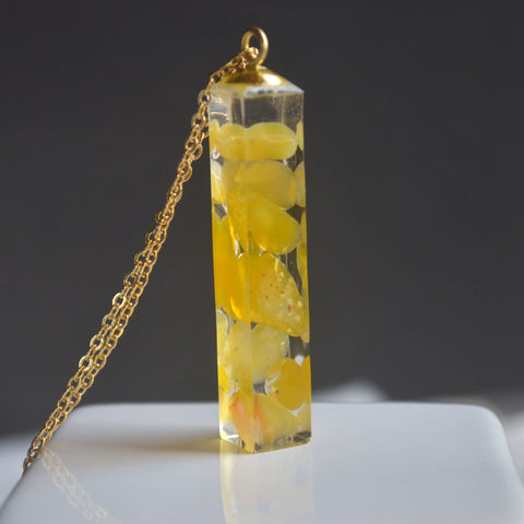 Yellow Carnelian Stone Necklace