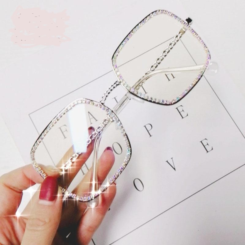 Square Flat Light Diamond Sunglasses