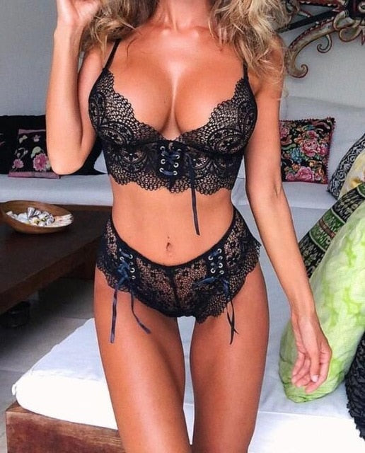 Seamless Lace Push Up Bra & Panty Sets