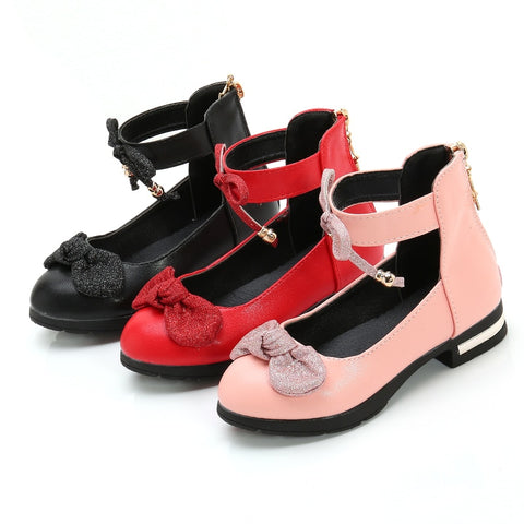 Princess Leather Ankle Tie Dress Shoes