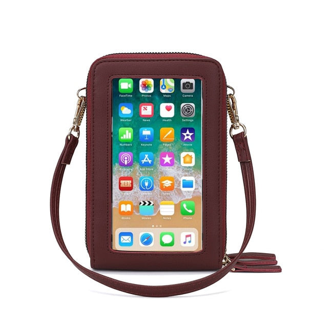 Womens Cellphone Touch Screen Purse