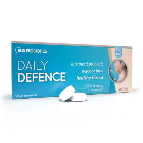 Daily Defence Vanilla Flavour - adanced probiotics for throat health and immunity support
