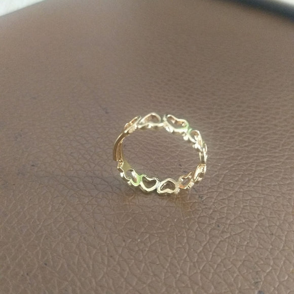 Heart Shape Open Ring