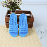 New home slippers wholesale bath leakage drag men and women soft bottom hollow non-slip bath cold drag men LS