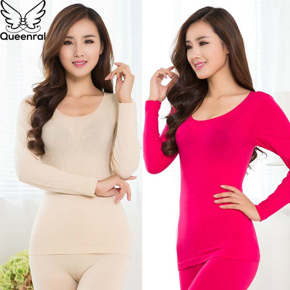 Queenral Women Thermal Underwear Set