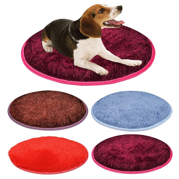 Warm Fleece Round Pet Mats