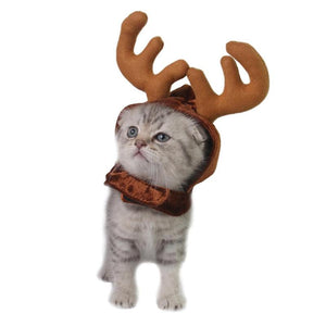 Adjustable Pet Antler Cap Christmas Decor