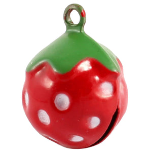 Strawberry Shaped Decorative Pet Round Bell