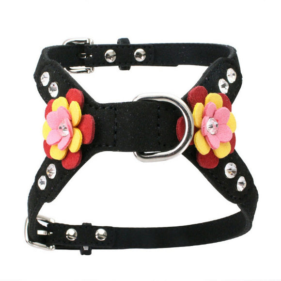 Cashmere Flower Pet Chest Strap
