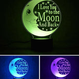 Colorful 3D Night Moon Light