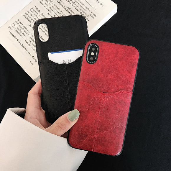 Business Slim Leather Phone Case