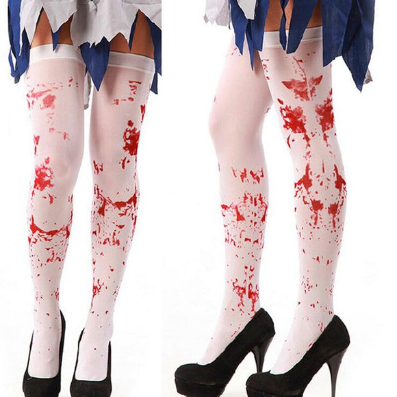 Bloody Blood Stained Hold Up Halloween Socks