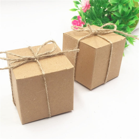 Small Cube Kraft Paper Boxes