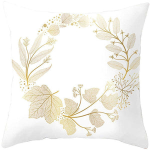Golden Leaves Decorative Pillowcases