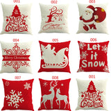 Christmas Cotton Linen Pillow Cases