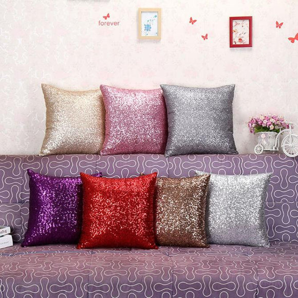 Glitter Sequins Throw Pillow Case