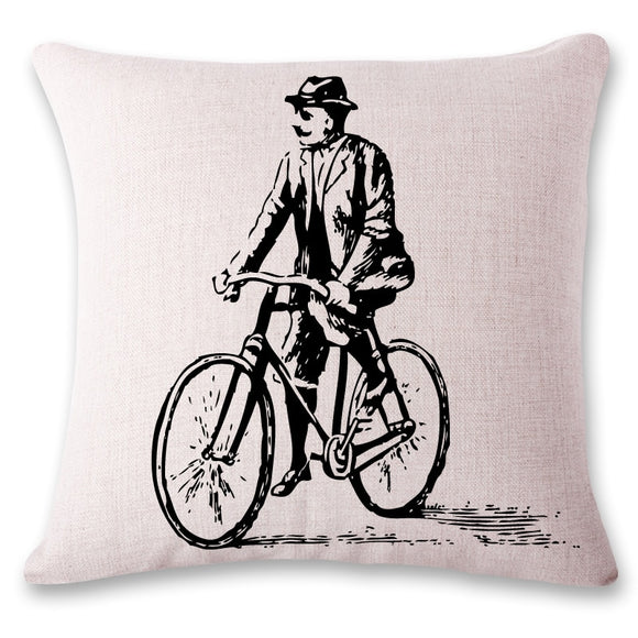 European Bicycles Pillow Case Cover