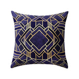 Black Gold Pillow Cover