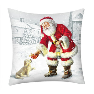 Christmas Throw Pillow Case Cover