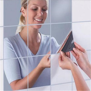 Square Mirror Wall Stickers