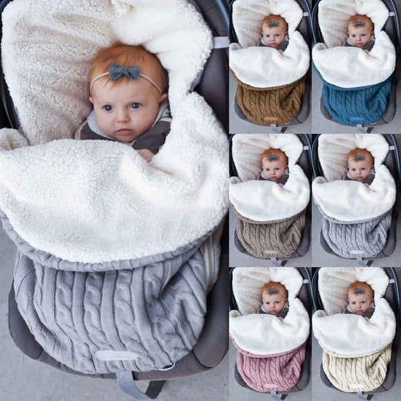 Warm Swaddle Knitted Sleeping Bag