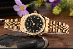 Gold Watch Waterproof Watches
