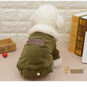 Suede Fabric Dog Coat