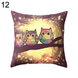 Cute Owl Animal Print Pillow Case Cover