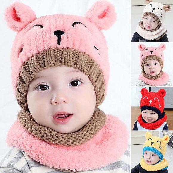 Knitted Bear Beanies Hat
