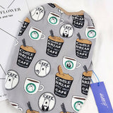 Coffee Print Cool Cotton Pet Costume