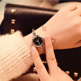 Small Gold Bangle Bracelet Watch